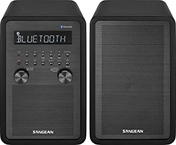 Sangean WR-50P FM-RBDS//AM//Bluetooth Wood Cabinet Table Top Stereo