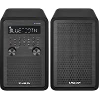 Sangean WR-50P AM/FM/Bluetooth Table Top Home Audio Radio, Black
