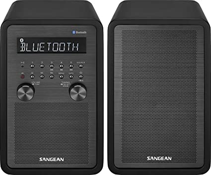 Sangean WR 50P FM RBDS/AM/Bluetooth Wood Cabinet Table Top Stereo
