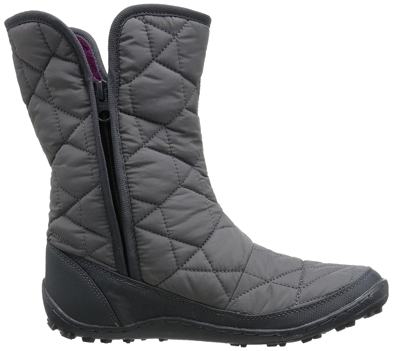 Columbia Women's Minx Slip Ii Omni-Heat Snow Boot B00Q7RIA5M 6 B(M) US|Shale, Dark Raspberry