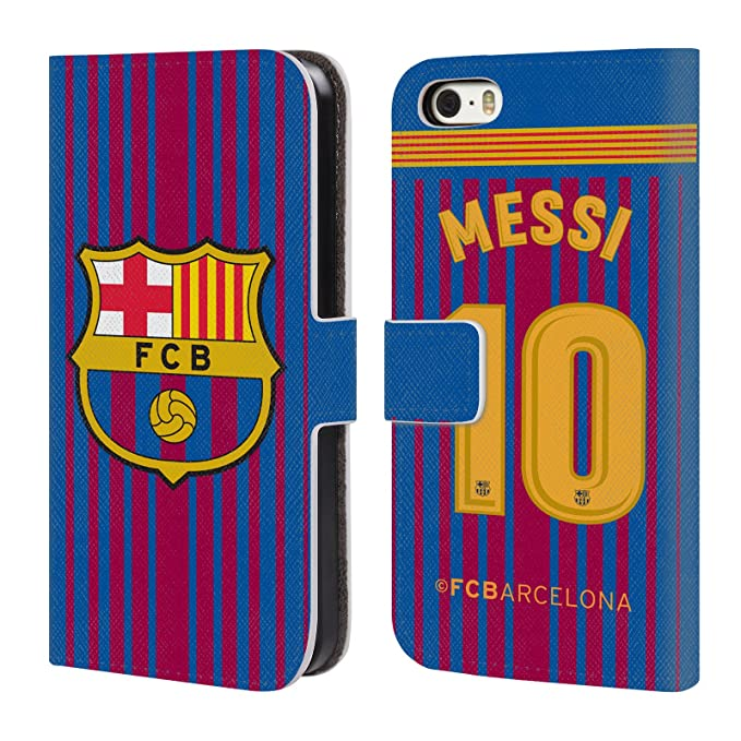 83e2b280918 Image Unavailable. Image not available for. Color  Official FC Barcelona  Messi 2017 18 Players Home Kit Group 1 Leather ...