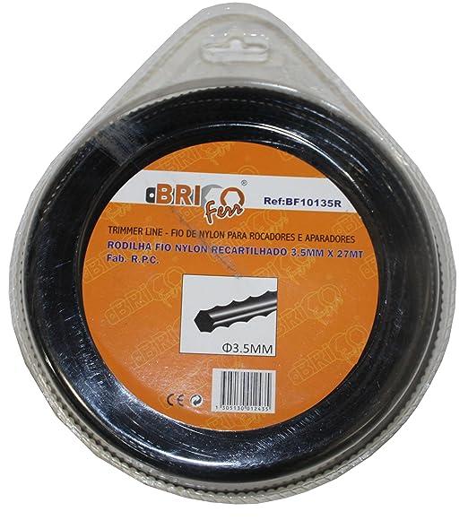 Bricoferr BF10135R Hilo desbrozadora nylon perfil diente sierra (3 ...