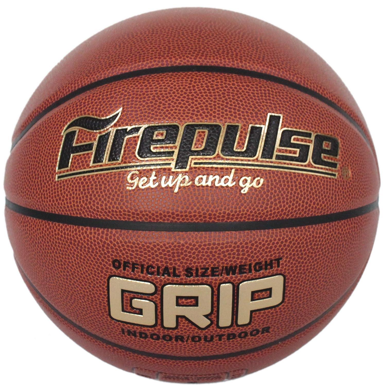 FIREPULSE グリップバスケットボール/公式サイズ 7(29.5インチ) 屋内外コンポジットレザーゲームバスケットボール B07N1QMHCV ダークブラウン