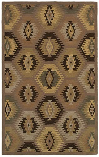 Rizzy Home Southwest Collection SU8153 Handtufted 100 Wool Area Rug 2 x 3 Gray-Multi