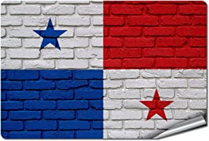 "ExpressItBest 5"" x 7"" Decal/Sticker/Skin with Flag of Panama - Bricks - UV Resistant - Outdoor Quality - Lasts for Years"