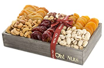 Amazon.com : Nuts and Fruit Gift Healthy Baskets, Assortment gifts ...