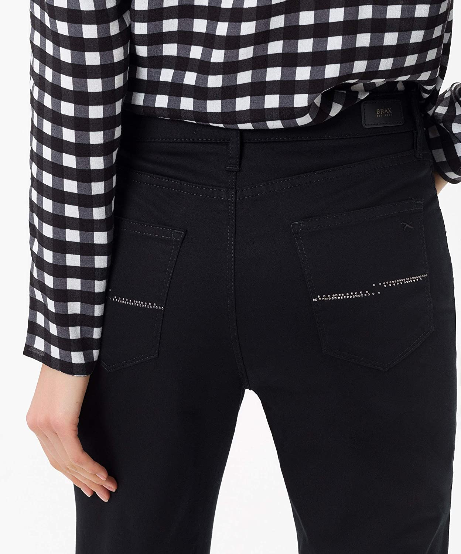 Brax Mary City Sport Premium Five Pocket Uni, Pantalon Femme Perma Black