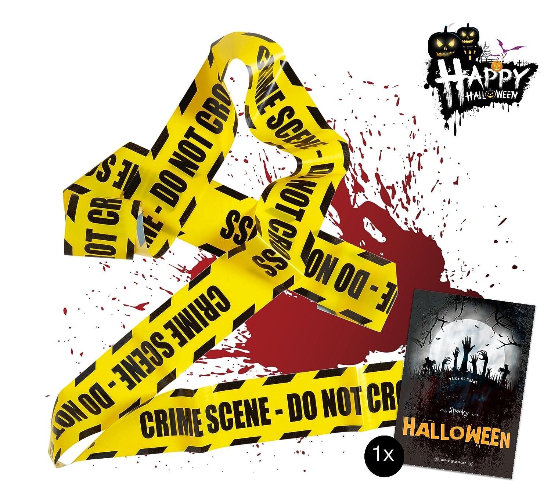Groupe TK Timo Klingler 1x Barrière Barrière Barrière 6.1 mètres comme décoration Décoration sur Halloween Halloweendeko Party Crime Scene TK Gruppe Timo Klingler