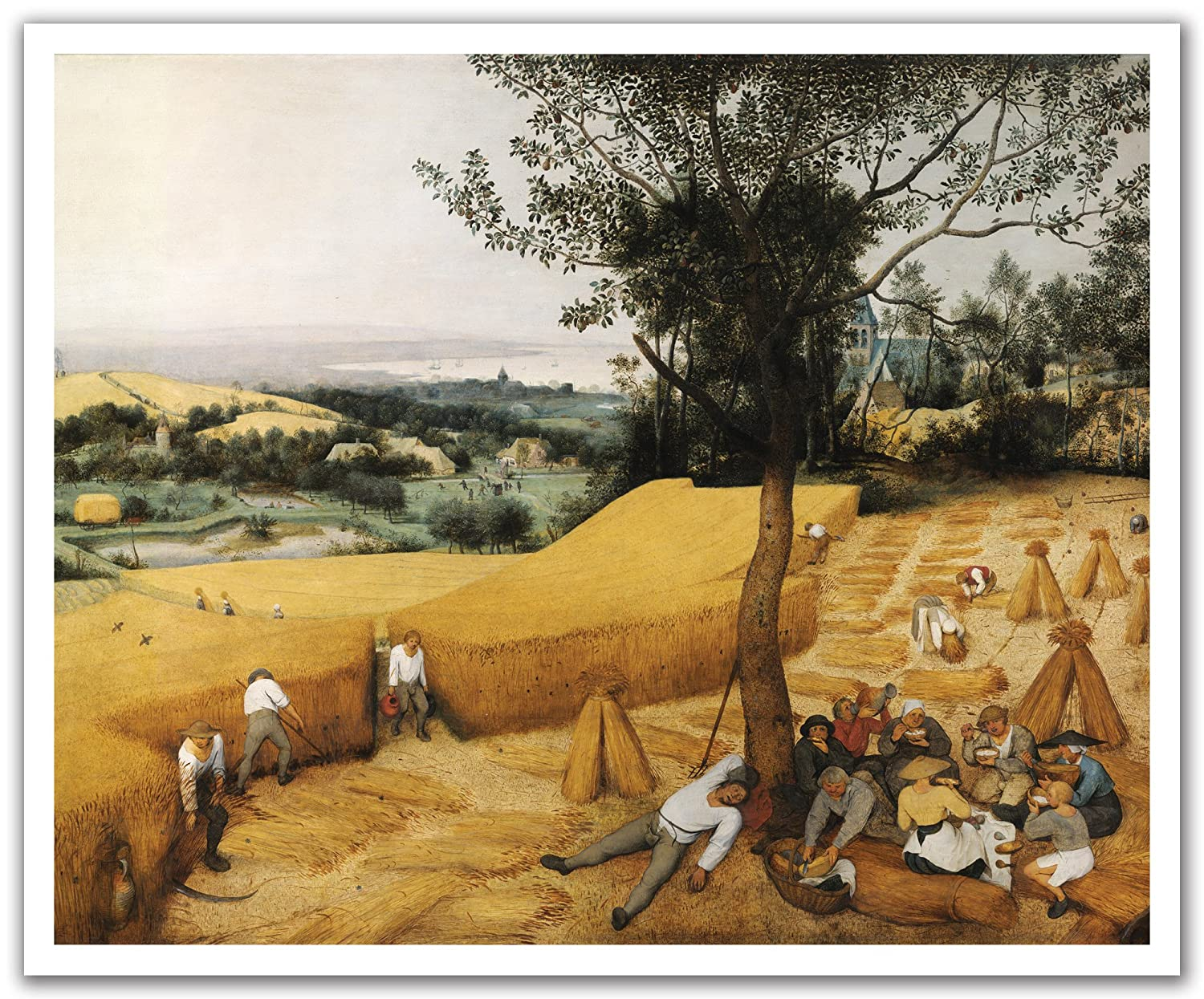 JP London POS2250 uStrip Peel and Stick Bruegel Wall Decal Sticker Mural The Harvesters Painting 24-Inch by 19.75-Inch