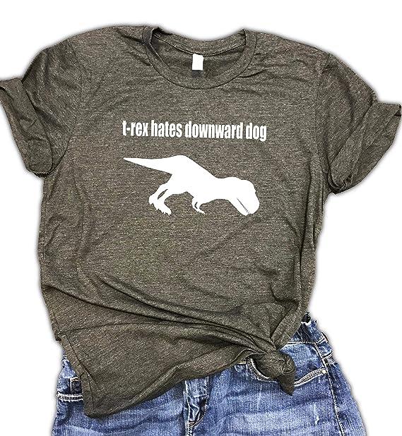 Amazon.com: T-Rex - Camiseta de yoga para perro, unisex ...