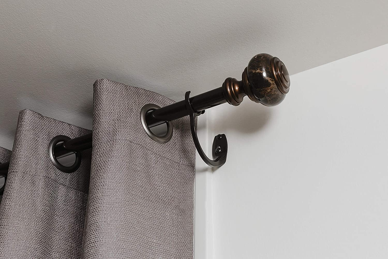 Umbra 244869-834-REM Curtain Rod For Window, 120 to 170-Inches, Polished Bronze: Home & Kitchen