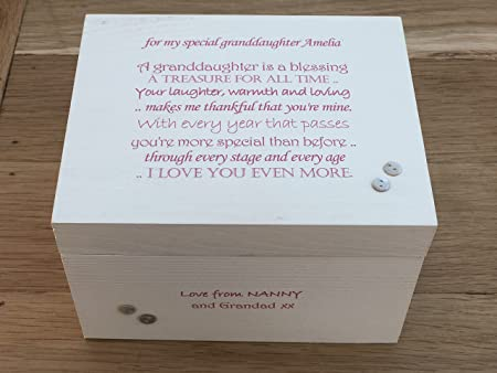 Shabby Chic Style Special Grandaughter Granddaughter Gift Jewellery