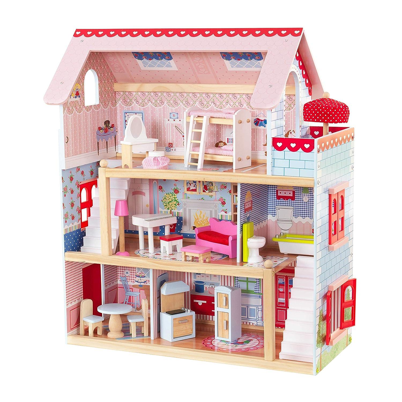 Amazon.es: KidKraft-Chelsea Casa madera con muebles y accesorios ...