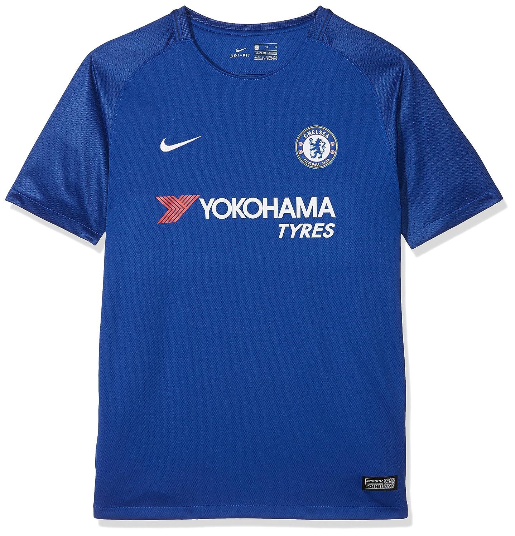fe29aeaa24 Amazon.com   Nike Youth Breathe Chelsea FC Stadium Jersey  Rush Blue     Sports   Outdoors