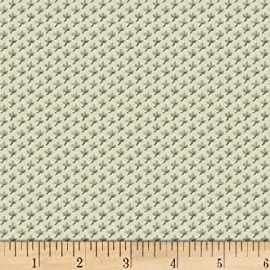 P&B Textiles Jasmine's Garden Geo Green Quilt Fabric By The Yard