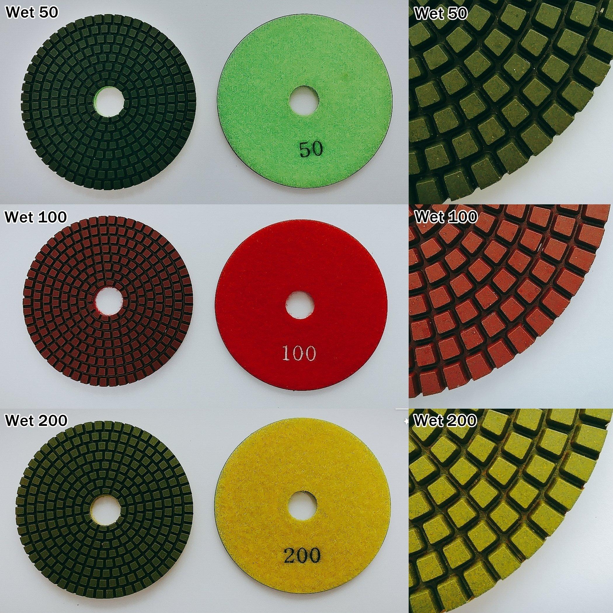 4'' inch Professional Diamond Wet Polishing Pad(Grits : 400)
