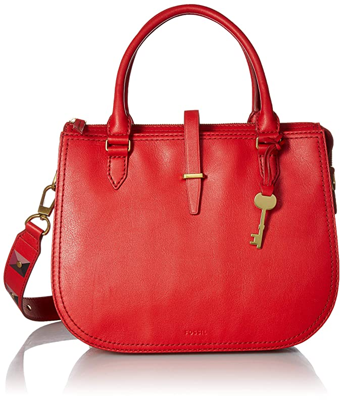 Fossil Ryder Satchel Poppy Red