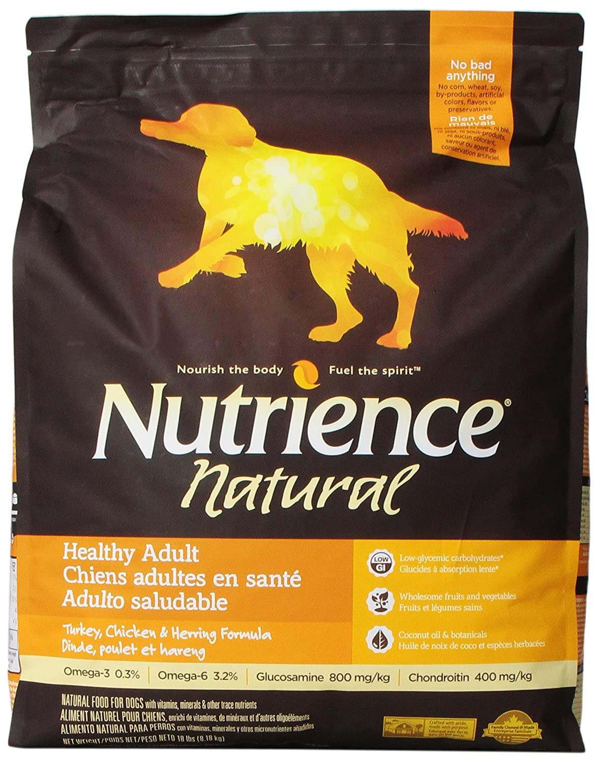 Nutrience Natural Healthy Adult Dog Food, 18-Pounds, Turkey, Chicken And Herring: Pet Supplies: Amazon.com
