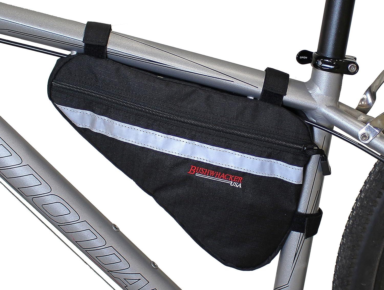Bushwhacker Gallup ブラック - 中型三角形自転車フレームバッグ 反射トリム付き サイクリングパック バイク アンダーシートトップチューブバッグ フロントリアアクセサリー クロスバー   B073VYY4XJ