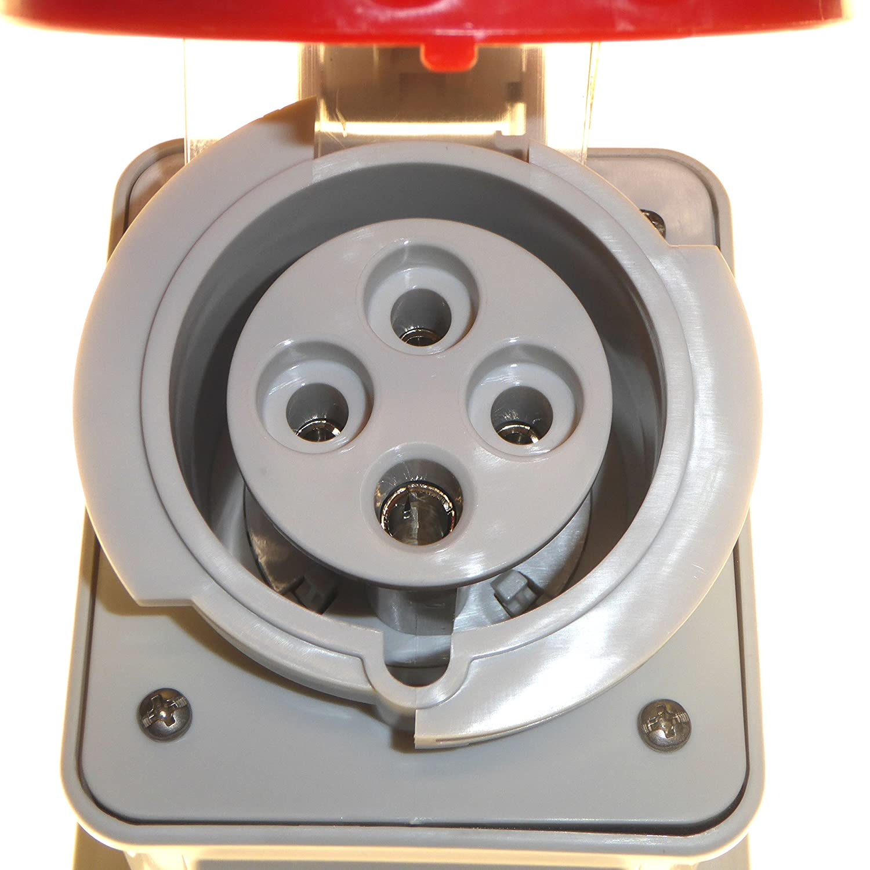 3P+T, 6 h, Rojo, IP67, CE, ENEC, 400 V Toma de corriente Gewiss GW62441