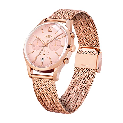 Amazon.com: Henry London Ladies Chronograph Shoreditch Watch HL39-CM-0168: Watches