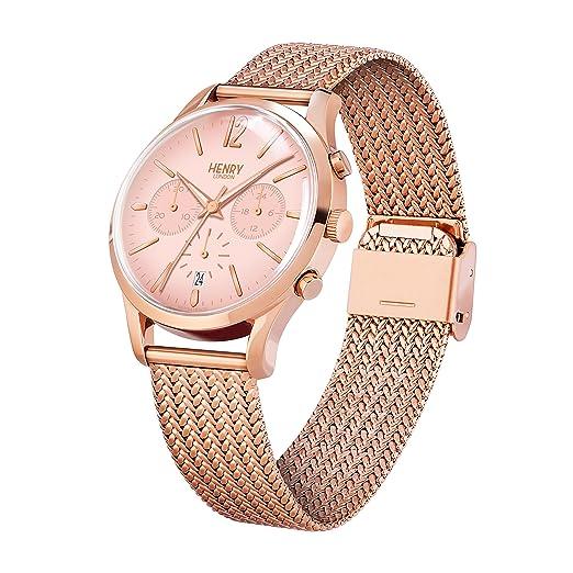 Amazon.com: Henry London Ladies Chronograph Shoreditch Watch HL39-CM-0168: Watches