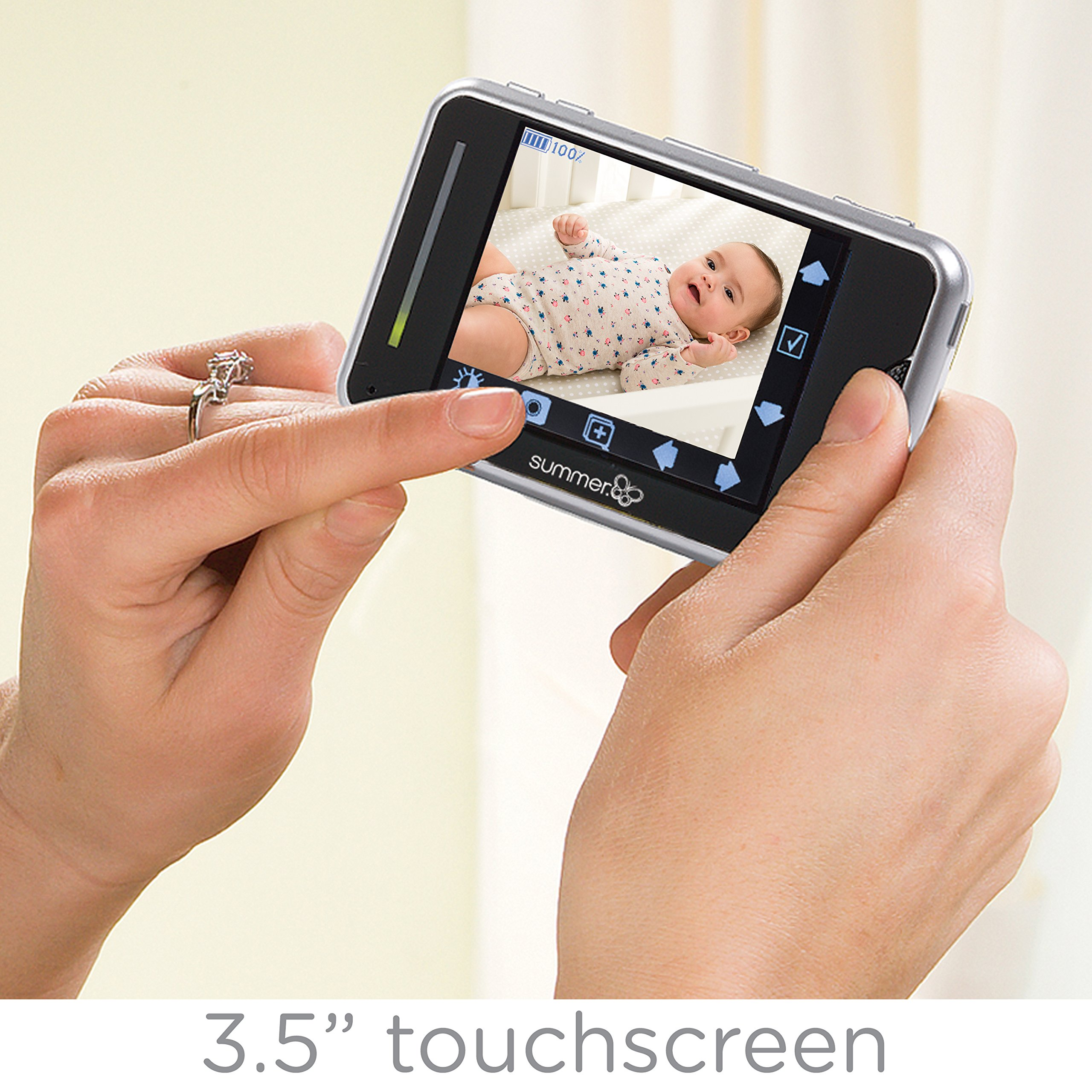 Summer Infant Baby Touch Pan/Scan/Zoom Video Baby Monitor, 3.5'' by Summer Infant (Image #2)