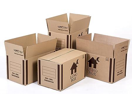 Cajas de Cartón Mudanza Pack de 10 - Canal Simple de Calidad Superior - Tamaño 500 x 300 x 300 mm - Mudanza - Embalaje - Almacenaje - Color Marrón ...