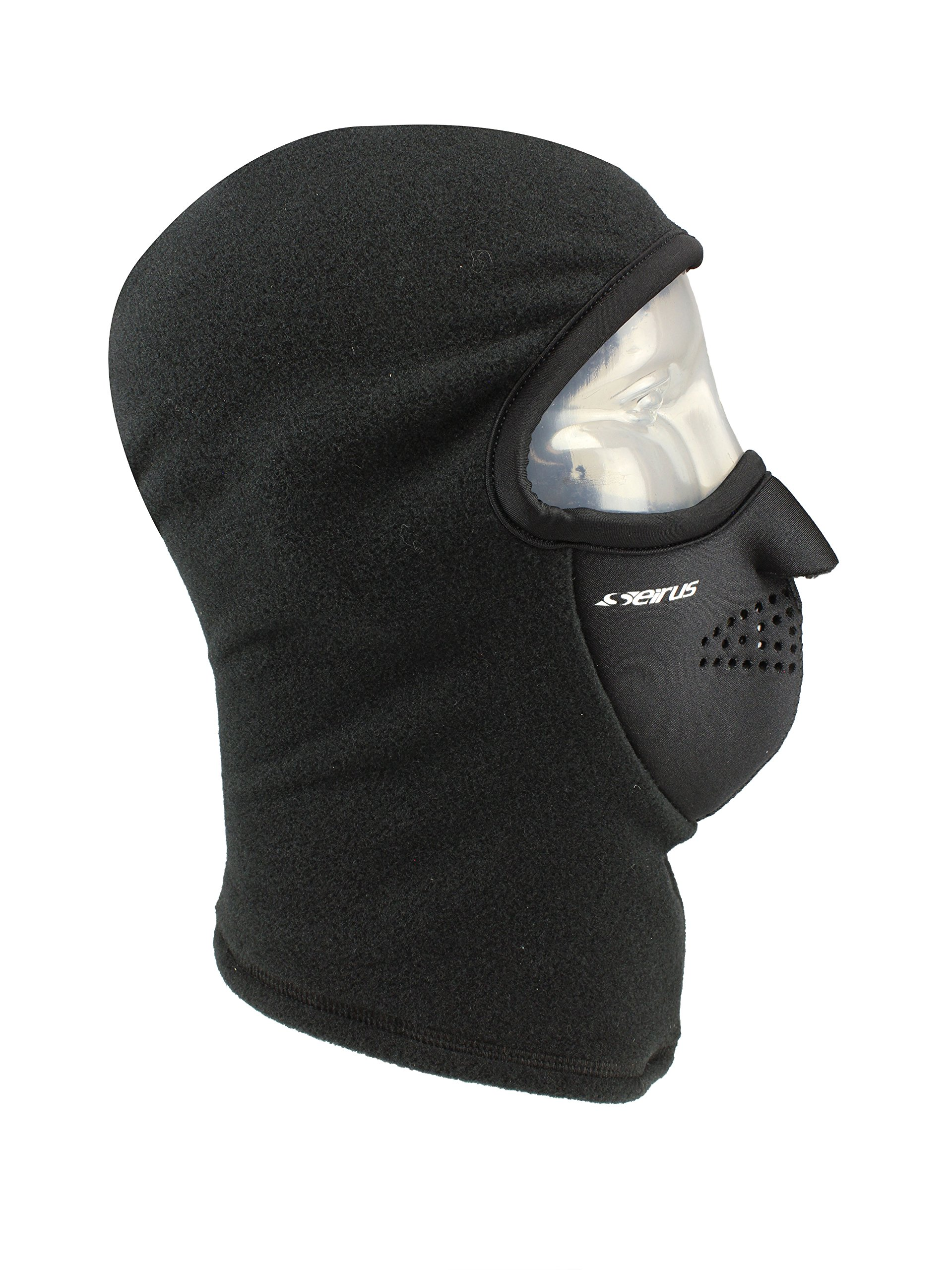 Seirus Innovation 8039 Neofleece Polartec Combo Clava - Winter Cold Weather Head, Face, and Neck Protection, Black, Small/Medium
