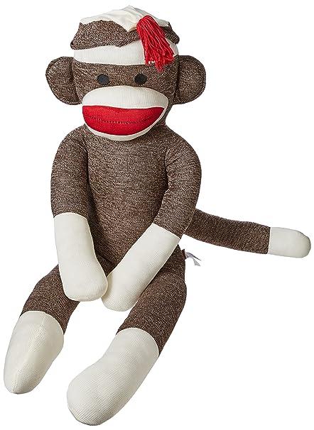 Amazon Com Schylling Jumbo Sock Monkey Toys Games
