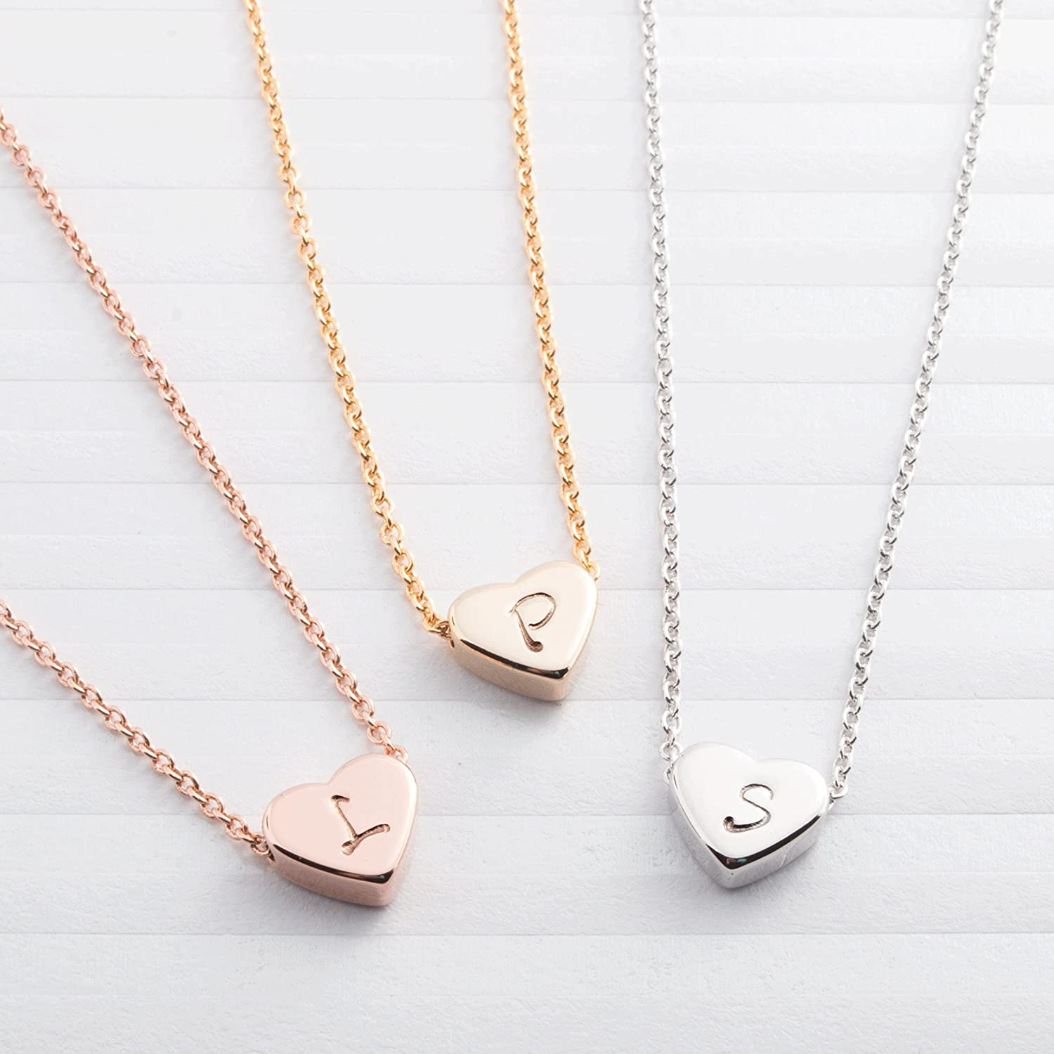 Bridesmaid Gifts Necklace Heart Silver Unique Be My Valentines Gift Bag Wedding