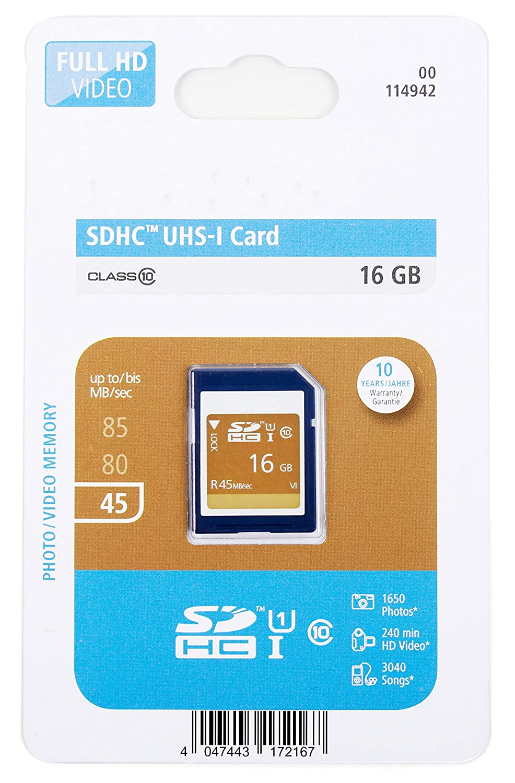 16 GB SDHCクラス10 UHS - I SDメモリカードfor Panasonic Lumix DMC - dc-gh5s & dc-g9 – by DURAGADGET B0783QHFTY