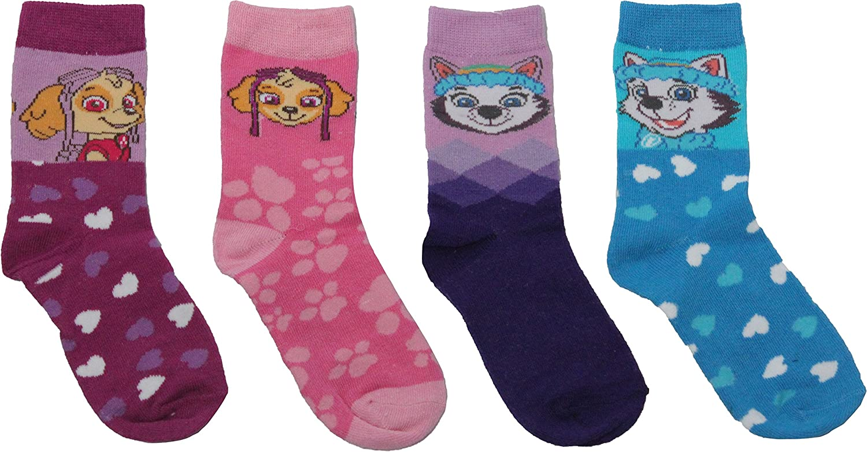 Paw Patrol Girls Pups Pals Sky and Everest 4PK Socks Set