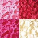 フラワーシャワー 花びら 1200枚セット 結婚式 2次会 パーティー の演出に花びら ローズペダル (4色ミックス)