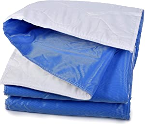 Mattress Pad Sheet Protector - Soft Quilted Cotton with a Waterproof Layer to Protect Your Mattress and Keep Sheets and Linen Dry. Superior Alternative to Disposable Mattress Pads. (34 x 52 Inches)