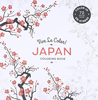 Vive Le Color Japan Colouring Book Colour In De Stress