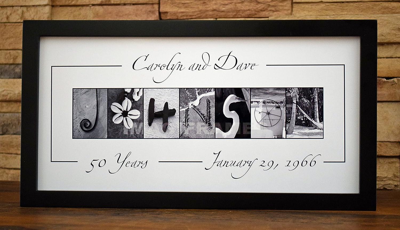 d0b9e7aa6e97 Amazon.com: Anniversary Custom Name - Framed Photo Letter Art - Personalized  Alphabet Photography: Handmade