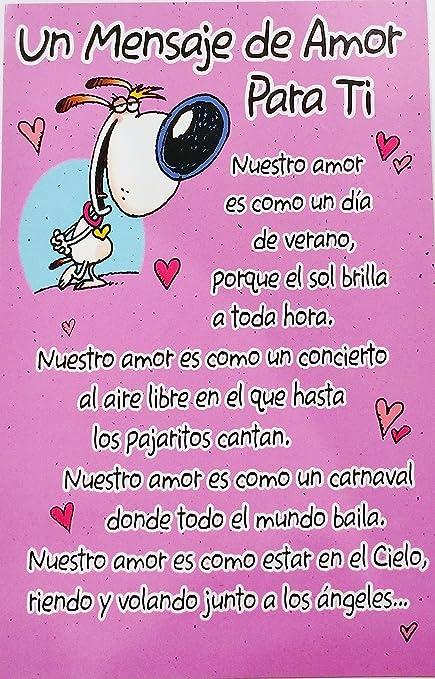 Amazoncom Un Mensaje De Amor Para Ti Romantic Valentines Day