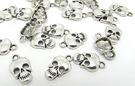 Antique Silver SKULLS HA06690 30g x Tibetan Silver Mixed Beads Charms Pendants