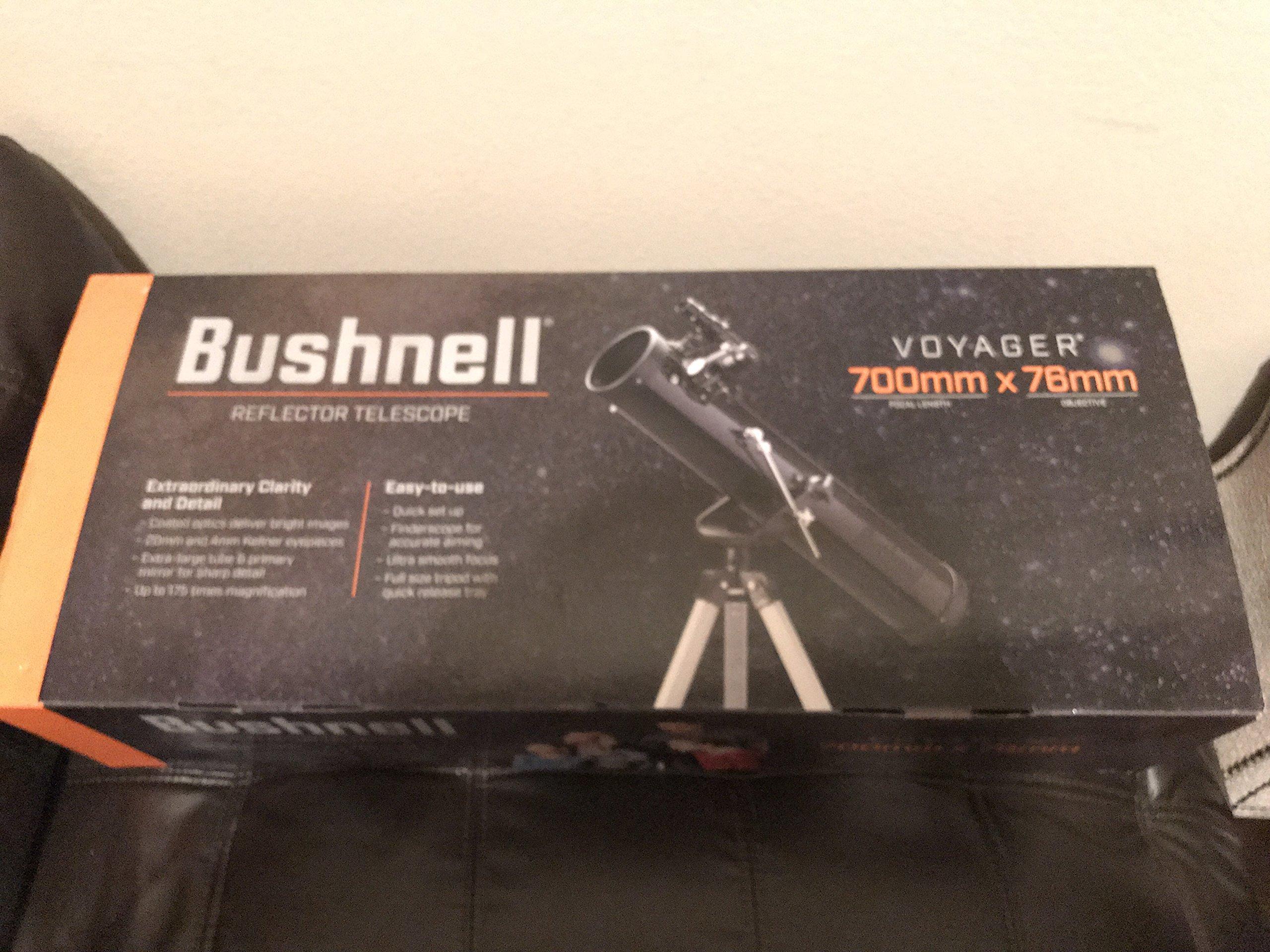 BUSHNELL 789931 Voyager SkyTour 700mm x 76mm Reflector Telescope