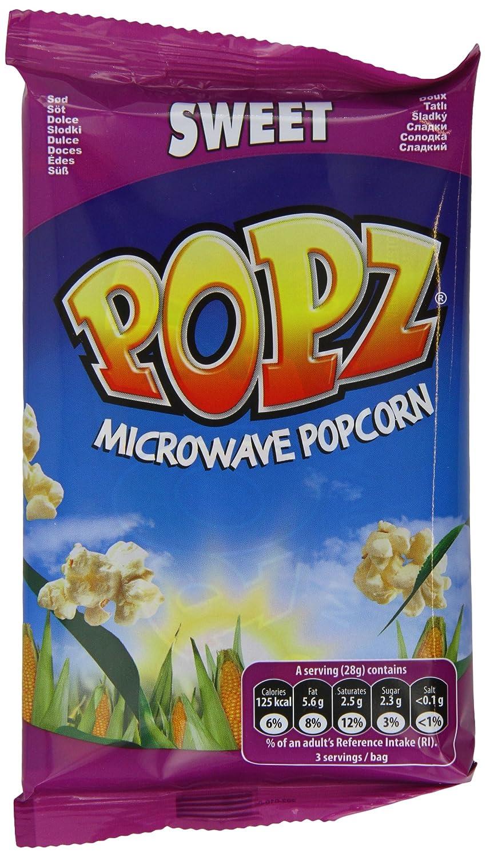 Popz Microondas palomitas dulces 15 x 100gram: Amazon.es ...