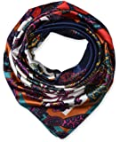 "100% Polyester Silk Feeling 35"" Kerchief Neck Scarf for Women by corciova"