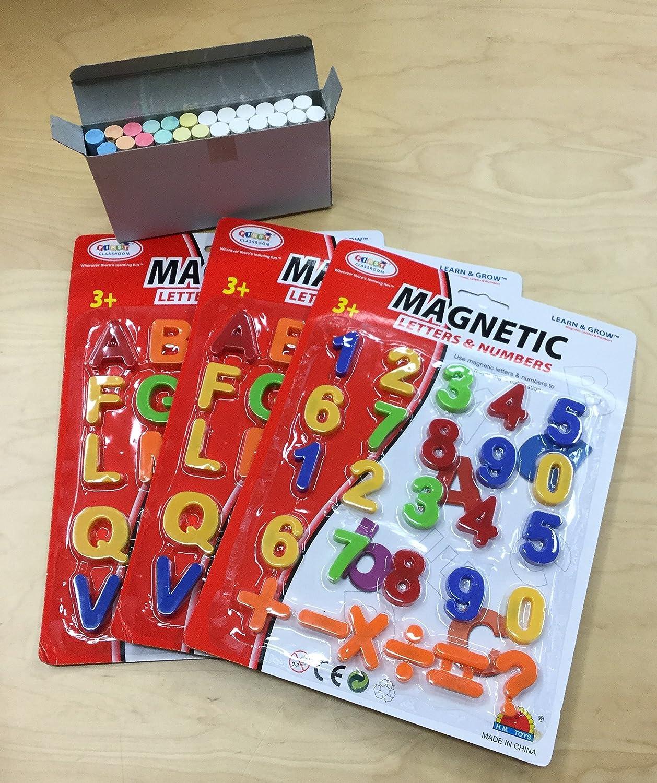 Letras magnéticas y números con tiza 102 piezas magnético ...