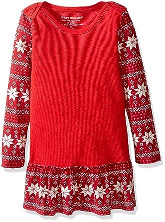 Amazon.com: Burt's Bees Kids Girls' Organic Thermal Skate Dress ...