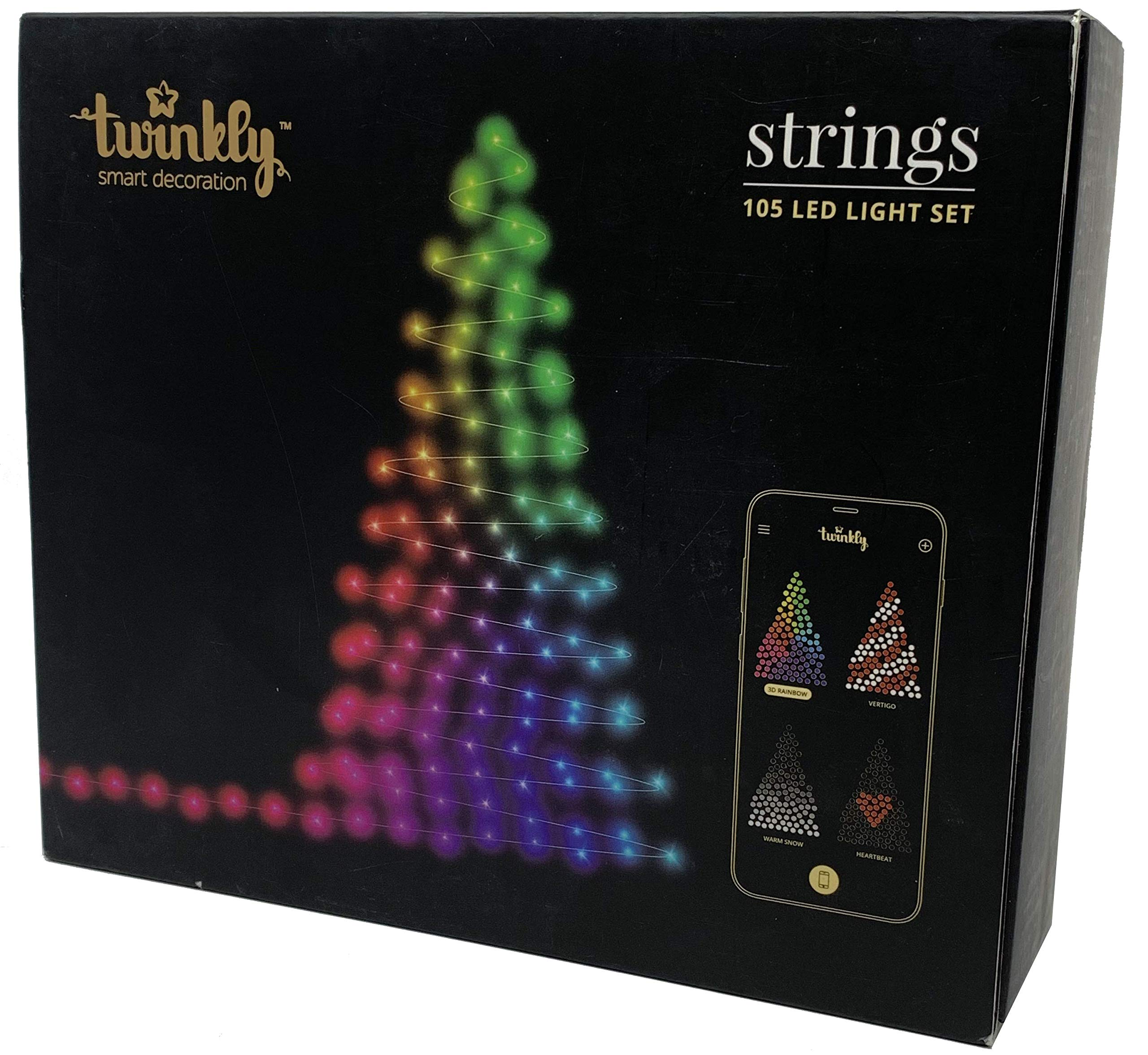 Twinkly LED String Lights, 105 Customizable LED Lights | Wifi-Enabled Light Set