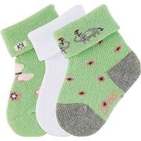 Sterntaler Baby Girls söckch. 3er-Pack Elefant Calf Socks