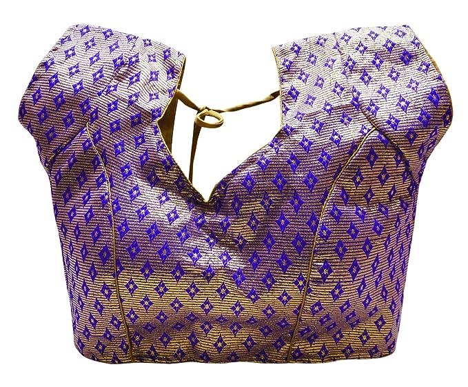 PEEGLI India Prefabricados Blusa De Las Mujeres Crop Top Boda Tradicional Sari Choli: Amazon.es: Ropa y accesorios