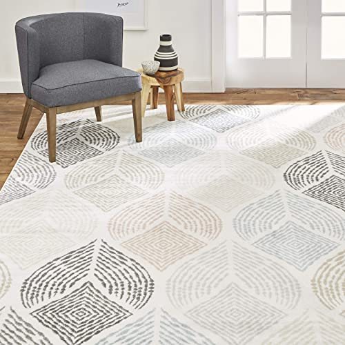 Home Dynamix Area Rug, 7 10 x10 2, Ivory-Beige