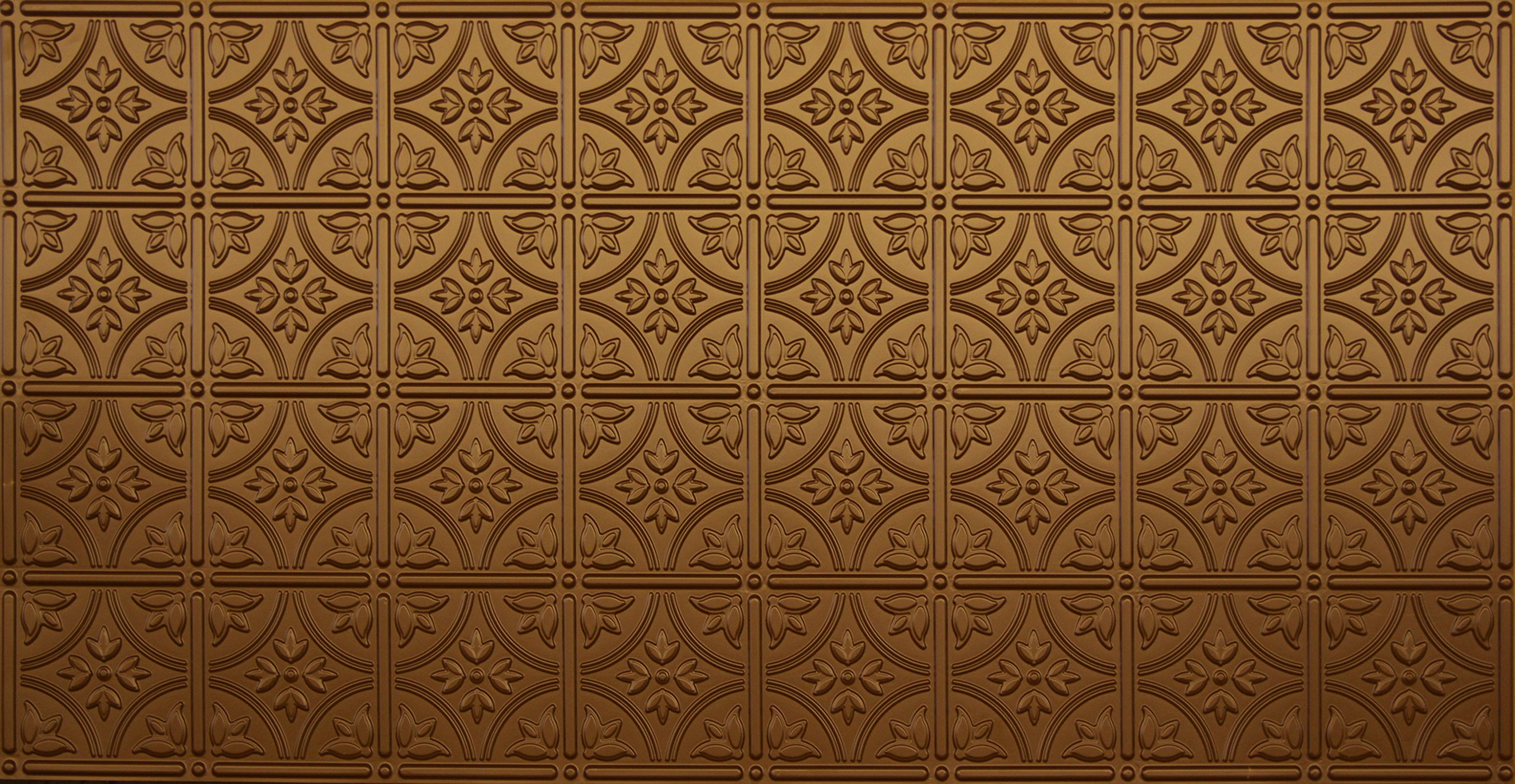Global Specialty Products 209-07 Traditional Tin Style Panels For Glue-Up Installation, Metallic Fused Bronze by Global Specialties