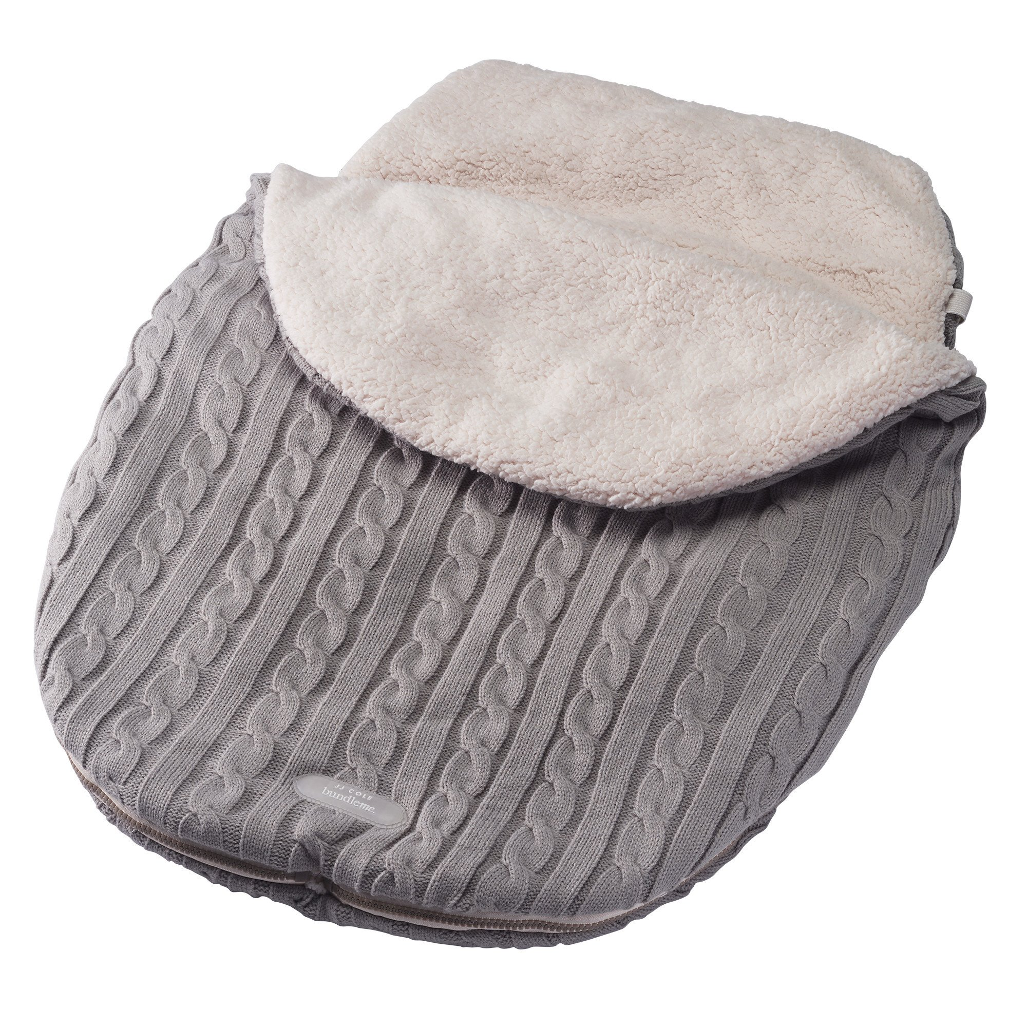 JJ Cole - Knit Bundleme Set, Blanket Cover to Protect Baby from Cold Weather with Car Seats and Strollers, Graphite, Birth to 1 Year by JJ Cole (Image #2)